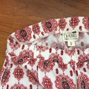 PACSUN Red and White Shorts